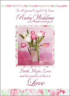 christian anniversary cards ruby anniversary cards