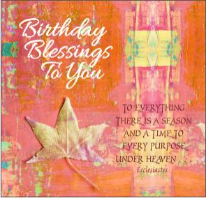 christian birthday card gold leaf