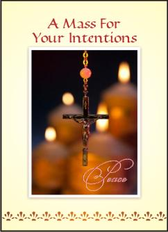 catholic mass intention cards rosary design