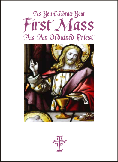 priest first mass card jesus last supper