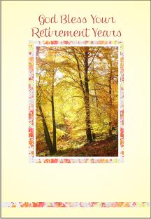 christian retirement cards autumn trees