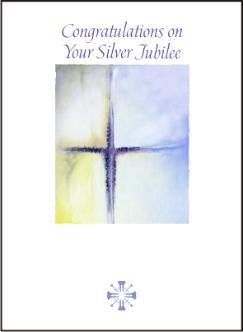 silver jubilee cross painting cards