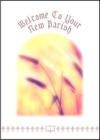 new parish priest card wheat design